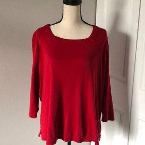 KIM ROGERS RED COTTON TOP